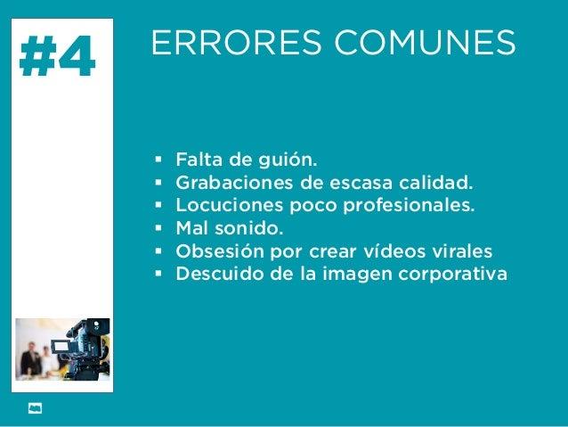 Formación Libre @ortizan  #4  ERRORES COMUNES    Falta de guión.    Grabaciones de escasa calidad.    Locuciones poco p...