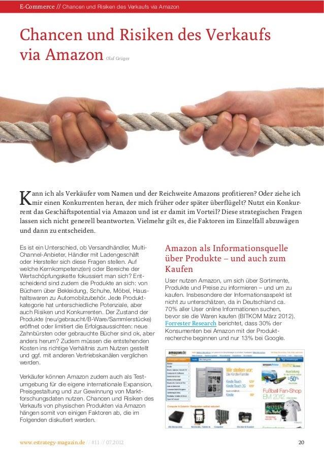 Chancen und Risiken des Verkaufs Olaf Grüger www.estrategy-magazin.de // / E-Commerce // Chancen und Risiken des Verkaufs ...