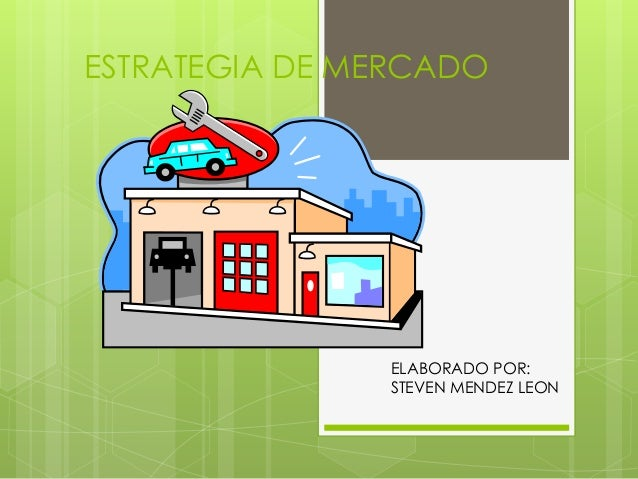 ESTRATEGIA DE MERCADO  ELABORADO POR:  STEVEN MENDEZ LEON