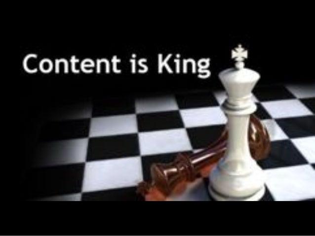 5 Si el contenido es el Rey… Yo soy el Papa …y lo sabes!