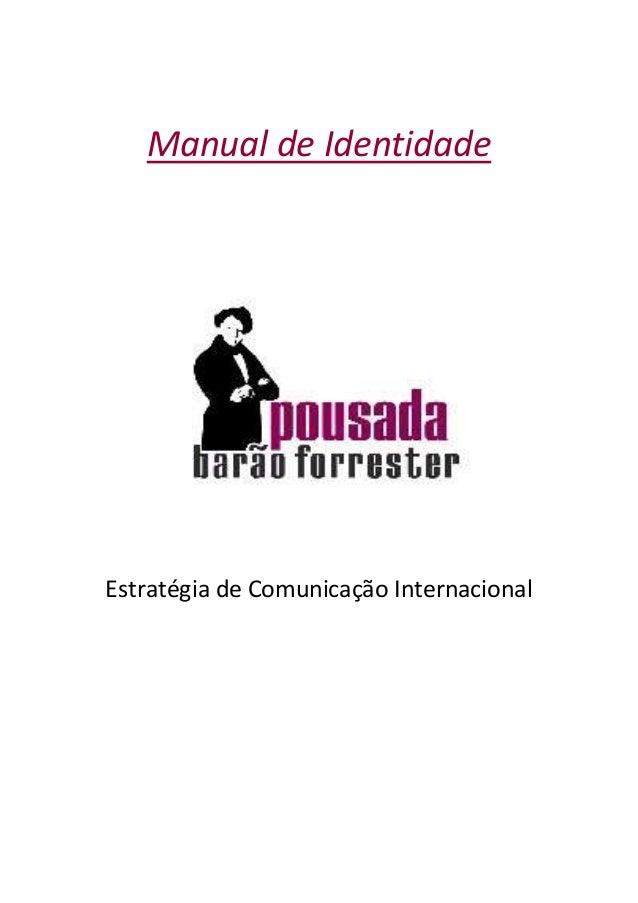 Manual de Identidade Estratégia de Comunicação Internacional