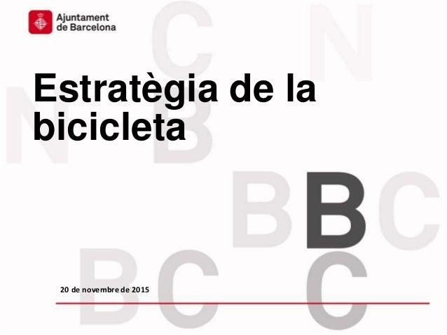Estratègia de la bicicleta 20 de novembre de 2015