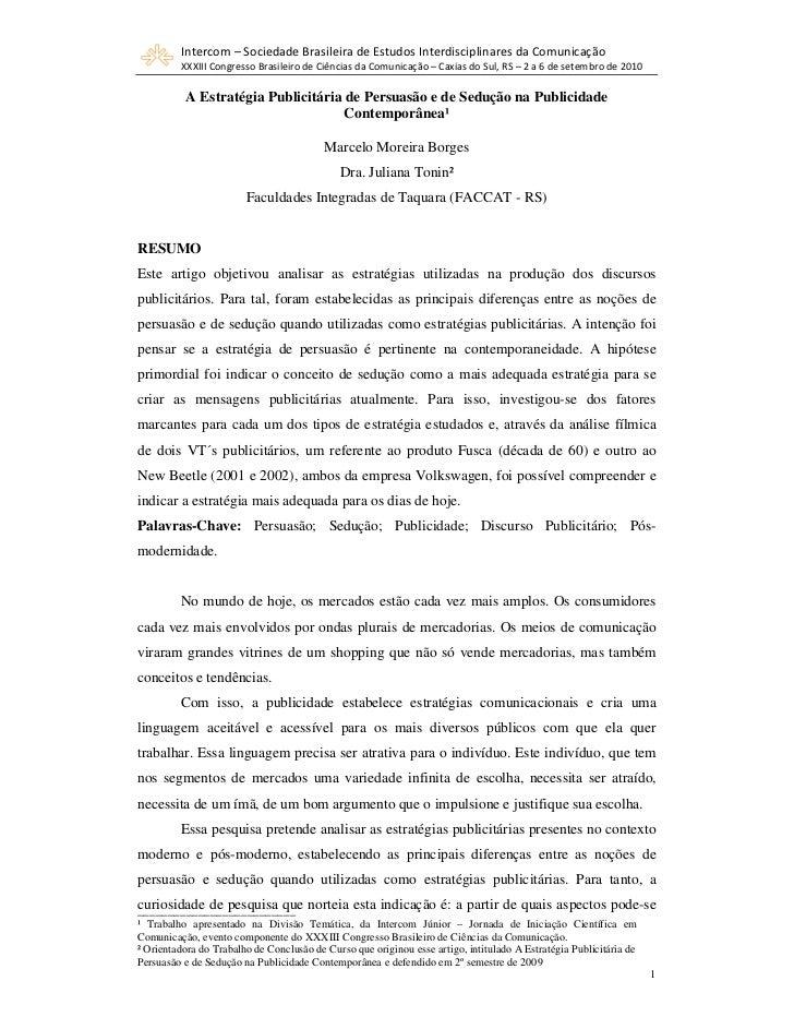 Intercom – Sociedade Brasileira de Estudos Interdisciplinares da Comunicação         XXXIII Congresso Brasileiro de Ciênci...