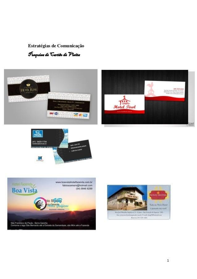 1 Estratégias de Comunicação Pesquisa de Cartão de Visita
