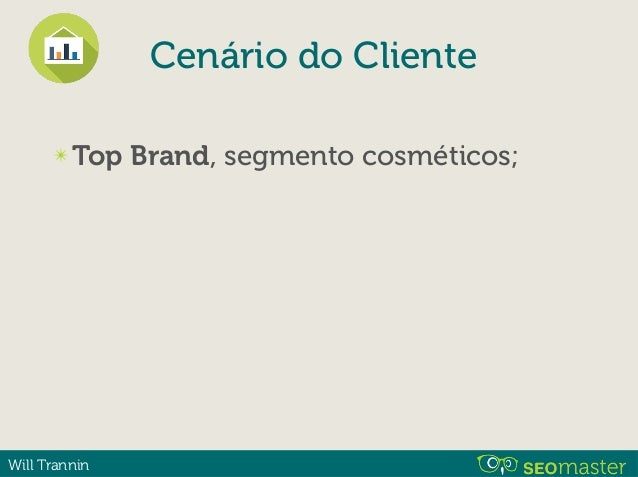 Will Trannin ✴ Top Brand ✴ Loja nova ✴ Baixa autoridade e visibilidade; Cenário do Cliente