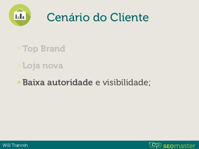 Will Trannin ✴ Top Brand ✴ Loja nova ✴ Baixa ✴ Barreiras ✴ Trabalho de 4 meses para data. Cenário do Cliente