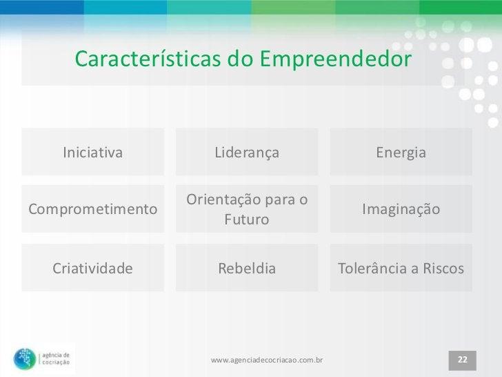 Características do Empreendedor    Iniciativa       Liderança                            Energia                  Orientaç...