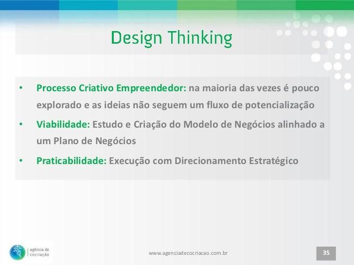 •   Processo Criativo Empreendedor: na maioria das vezes é pouco    explorado e as ideias não seguem um fluxo de potencial...