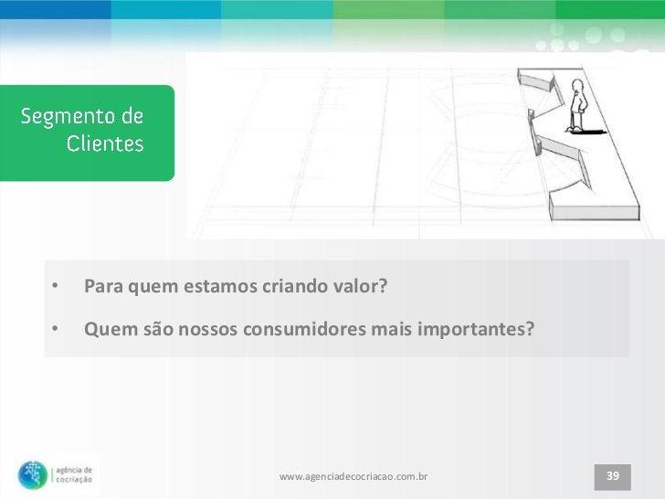 •   Para quem estamos criando valor?•   Quem são nossos consumidores mais importantes?                        www.agenciad...