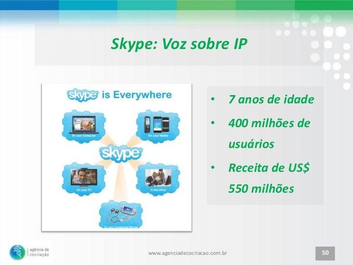 Skype: Voz sobre IP                           • 7 anos de idade                           • 400 milhões de                ...