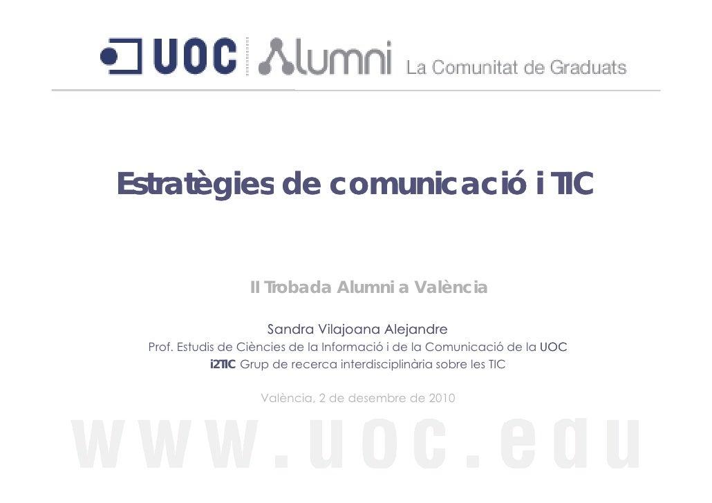 Estratègies de comunicació i TIC