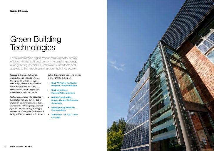 Energy Efficiency     Green Building     Technologies     EarthStream helps organizations realize greater energy     effic...
