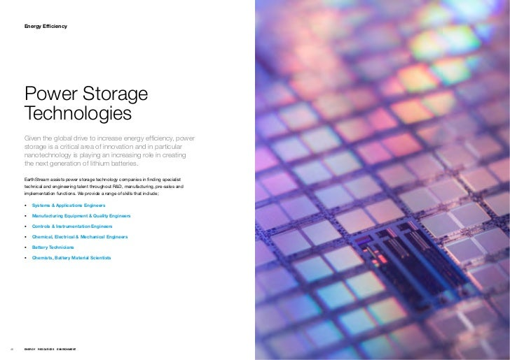 Energy Efficiency     Power Storage     Technologies     Given the global drive to increase energy efficiency, power     s...