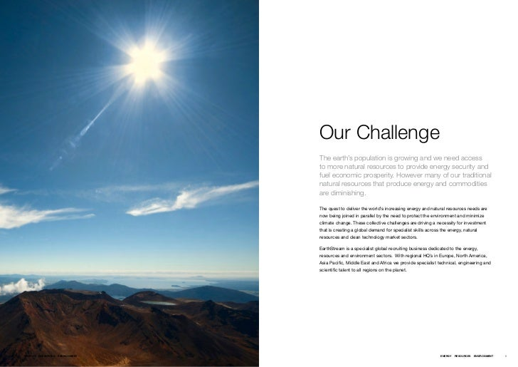 Our Challenge                                       The earth's population is growing and we need access                  ...