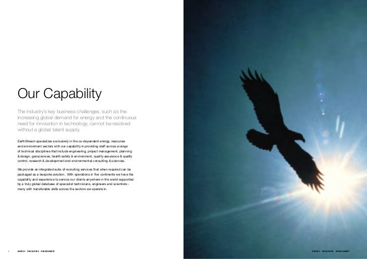 Our Capability    The industry's key business challenges, such as the    increasing global demand for energy and the conti...