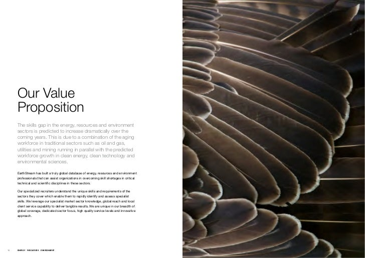 Our Value     Proposition     The skills gap in the energy, resources and environment     sectors is predicted to increase...
