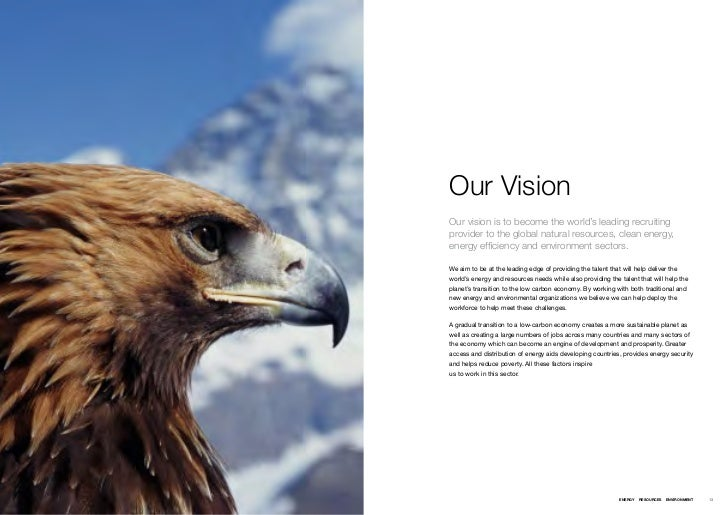 Our VisionOur vision is to become the world's leading recruitingprovider to the global natural resources, clean energy,ene...