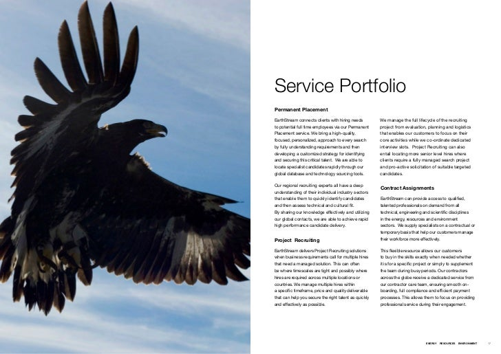 Service PortfolioPermanent PlacementEarthStream connects clients with hiring needs ƒ       We manage the full lifecycle of...