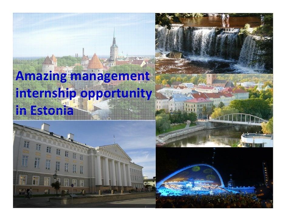 Amazing management internship opportunity in Estonia