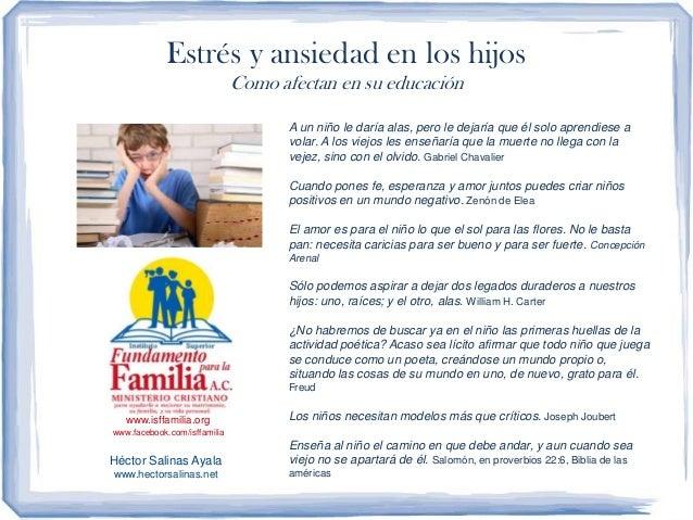 Estrés y ansiedad en los hijos                              Como afectan en su educación                                  ...
