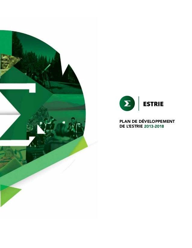 PLAN DE DÉVELOPPEMENT DE L'ESTRIE 2013-2018