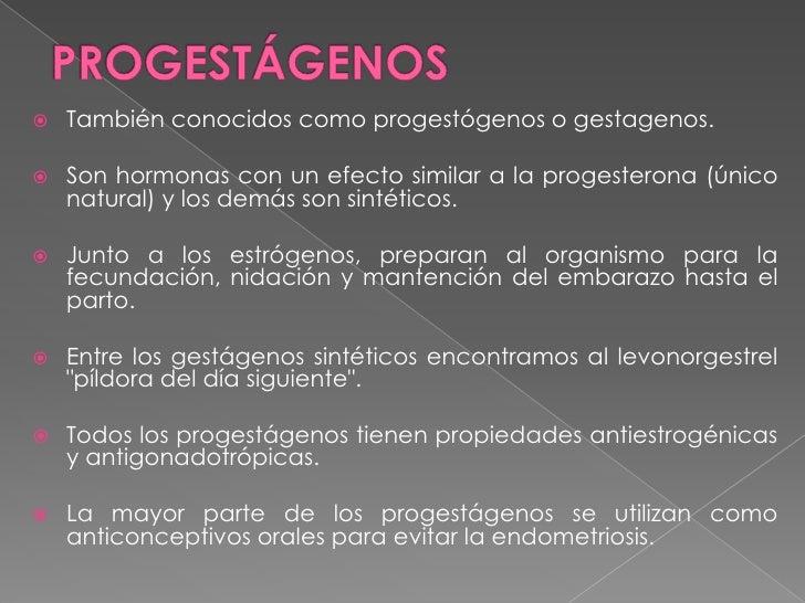 Estrogeno progestagenos y androgeno