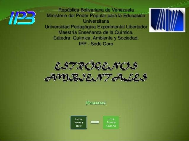 República Bolivariana de Venezuela Ministerio del Poder Popular para la Educación Universitaria Universidad Pedagógica Exp...