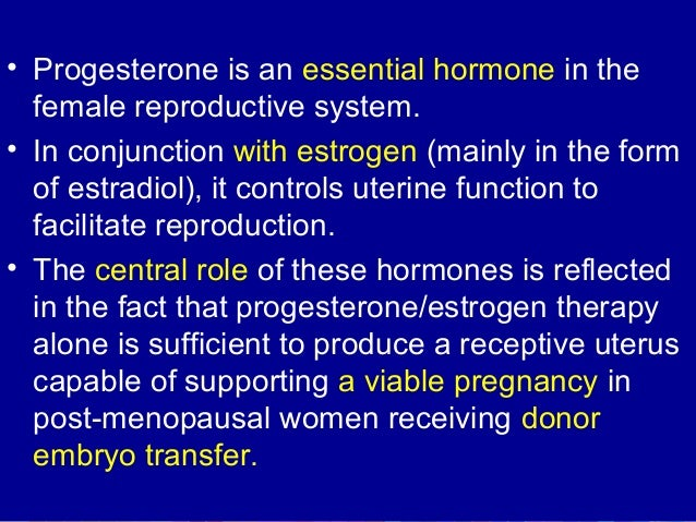 Progesteron & Estrogen - Clinical Applications - Dr Dhorepatil Bharati
