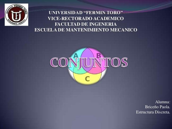 """UNIVERSIDAD """"FERMIN TORO""""    VICE-RECTORADO ACADEMICO      FACULTAD DE INGENERIAESCUELA DE MANTENIMIENTO MECANICO         ..."""