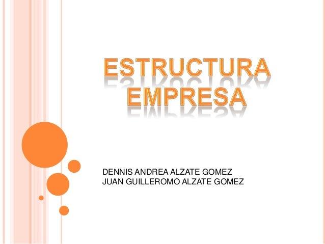 DENNIS ANDREA ALZATE GOMEZJUAN GUILLEROMO ALZATE GOMEZ