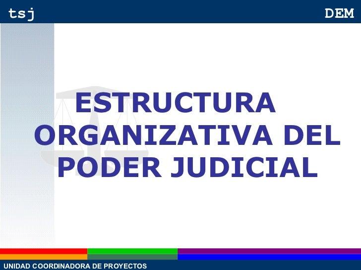 ESTRUCTURA ORGANIZATIVA DEL PODER JUDICIAL