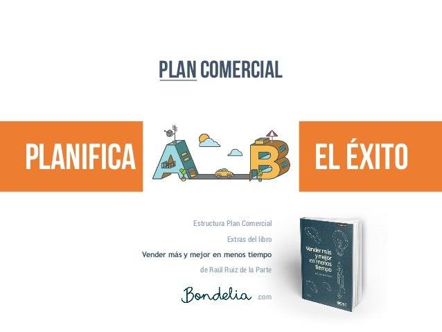 Plan comercial planifica el éxito .com Estructura Plan Comercial Extras del libro Vender más y mejor en menos tiempo de Ra...