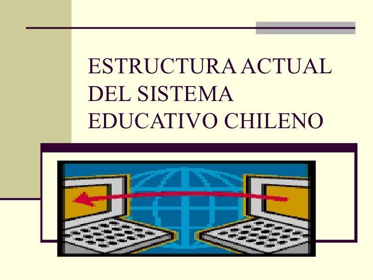 ESTRUCTURA ACTUAL DEL SISTEMA EDUCATIVO CHILENO