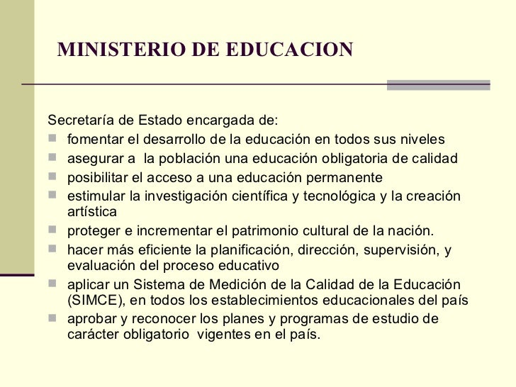 Estructura Actual Del Sistema Educativo Chileno Power
