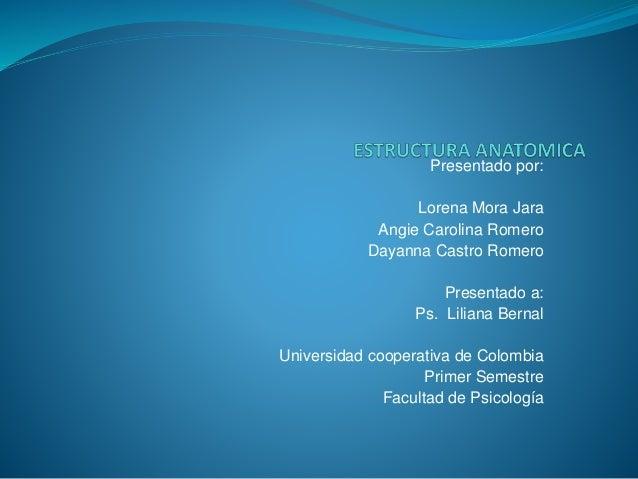 Presentado por: Lorena Mora Jara Angie Carolina Romero Dayanna Castro Romero Presentado a: Ps. Liliana Bernal Universidad ...