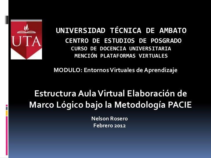 UNIVERSIDAD TÉCNICA DE AMBATO        CENTRO DE ESTUDIOS DE POSGRADO          CURSO DE DOCENCIA UNIVERSITARIA           MEN...