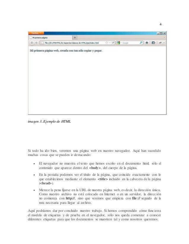 Estructura Basica De Una Pagina Web En Html