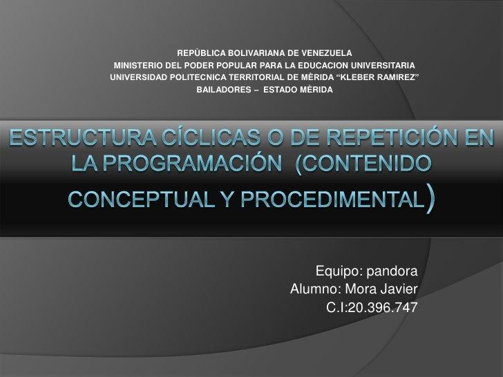REPÙBLICA BOLIVARIANA DE VENEZUELA MINISTERIO DEL PODER POPULAR PARA LA EDUCACION UNIVERSITARIAUNIVERSIDAD POLITECNICA TER...
