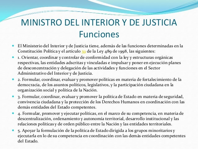 Estructura colombiana organigrama marlonhlogistica for Ministro del interior actual