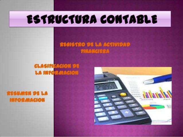REGISTRO DE LA ACTIVIDAD                        FINANCIERA        CLASIFICACION DE        LA INFORMACIONRESUMEN DE LA INFO...