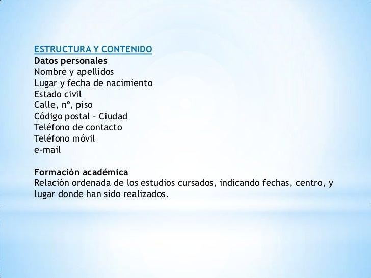 estructura-curriculum-vitae-3-728 Que Es Un Curriculum Vitae Y Ejemplo on