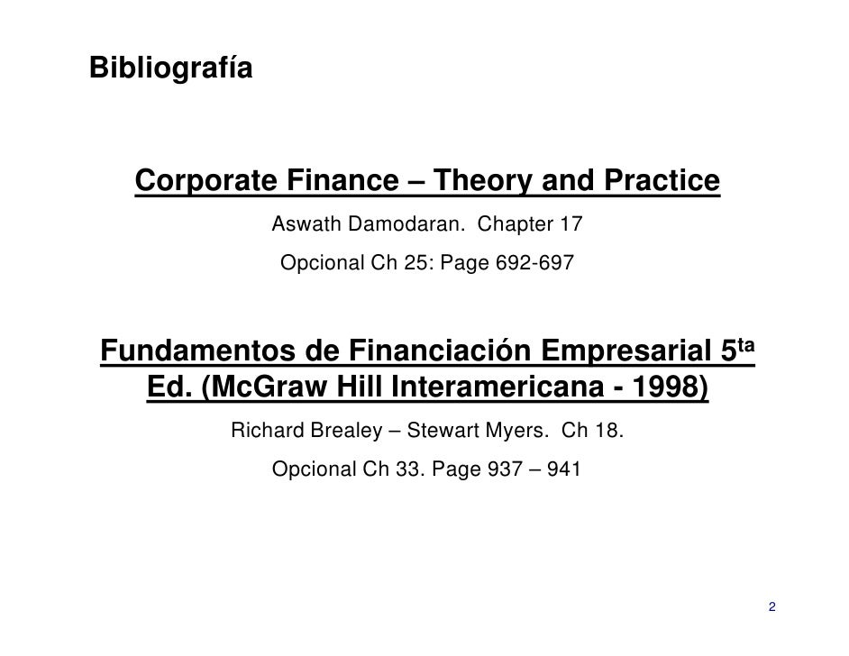 Finance Theory & Financial Strategy