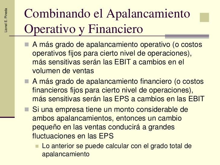 Apalancamiento operativo y financiero pdf