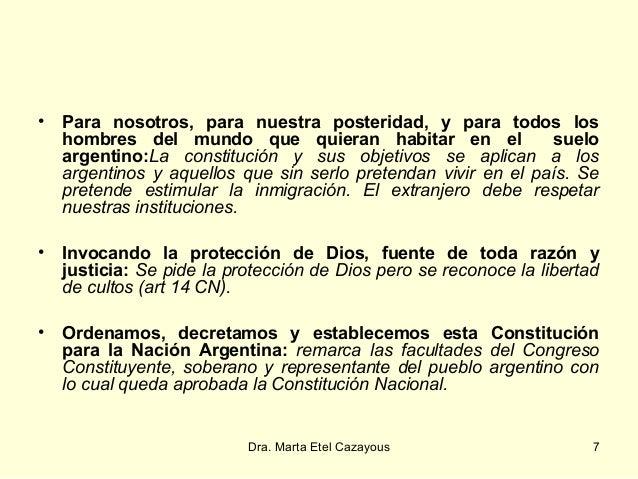 Estructura De La Constitucion De La Nacion Argentina