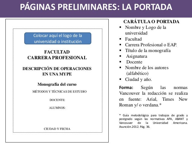 Estructura De La Monografafoa De Investigación