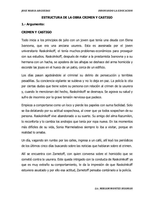 Estructura De La Obra Crimen Y Castigo