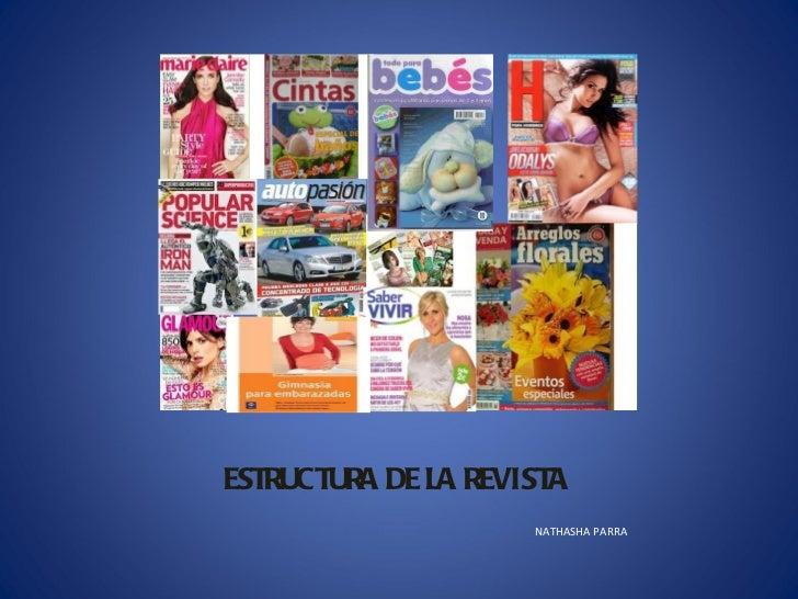 ESTRUCTURA DE LA REVISTA <ul><li>NATHASHA PARRA </li></ul>