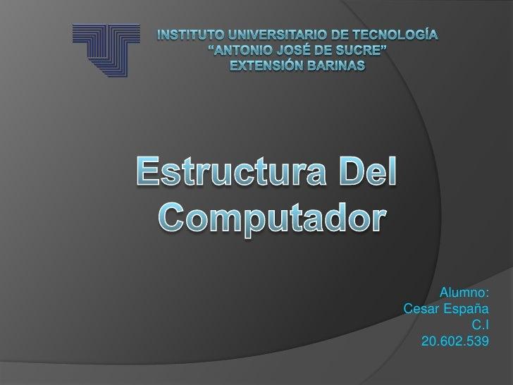 Alumno:Cesar España          C.I  20.602.539