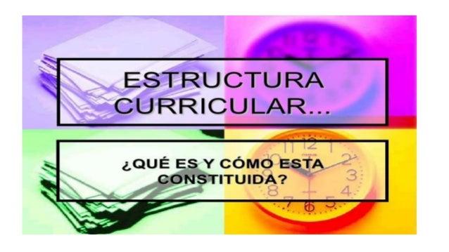 Estructura curricular Característica del diseño curricular Coherencia :en la elaboración de los diferentes apartados es ne...