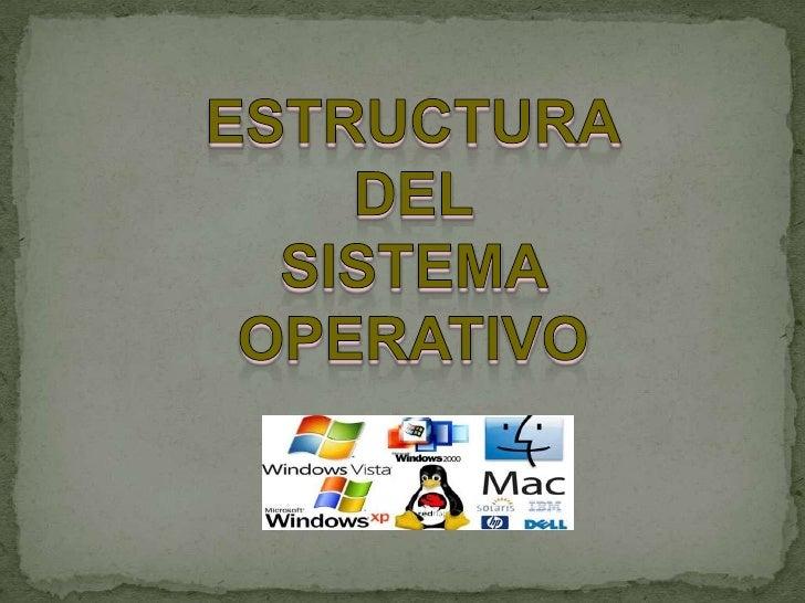 ESTRUCTURA<br />DEL <br />SISTEMA <br />OPERATIVO<br />